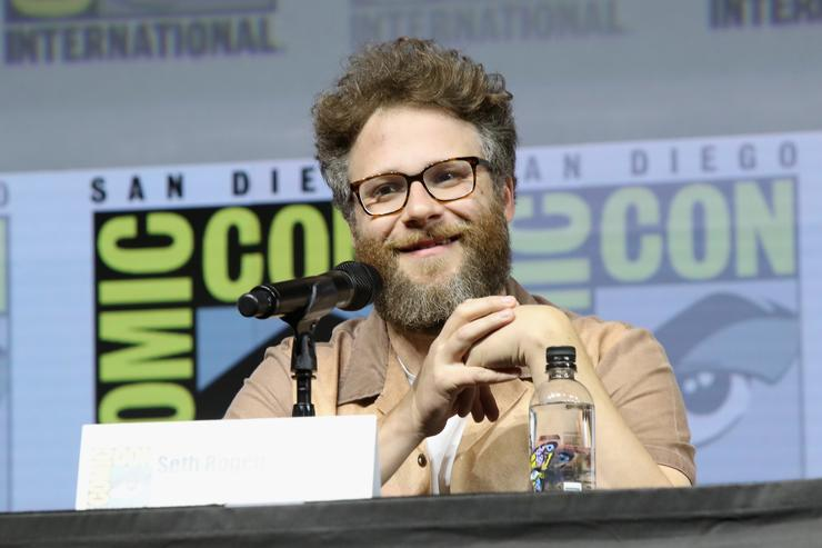 Seth Rogen attends the 'Preacher' autograph signing and panel with AMC during Comic-Con International 2018 at San Diego Convention Center on July 20, 2018 in San Diego, California.