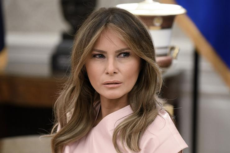 Chrissy Teigen mocks Melania Trump over gardening photo meme