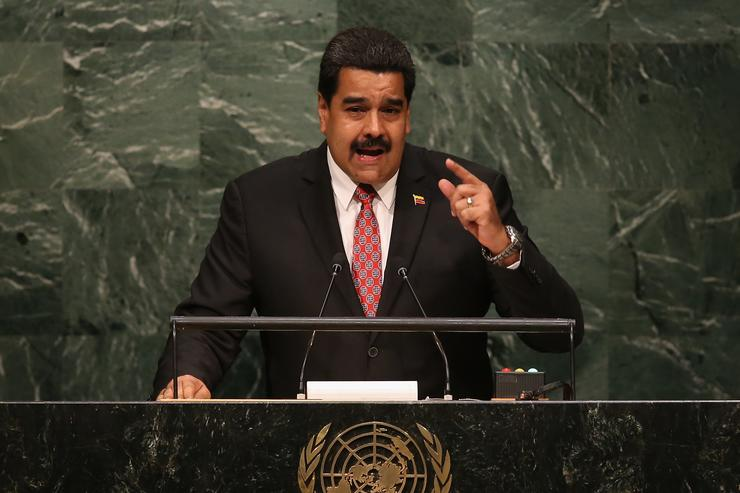 Venezuelan military gives Maduro 'unconditional' backing