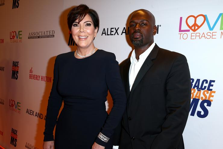 TV personality Kris Jenner and Corey Gamble attend the 24th Annual Race To Erase MS Gala at The Beverly Hilton Hotel on May 5, 2017 in Beverly Hills, California.