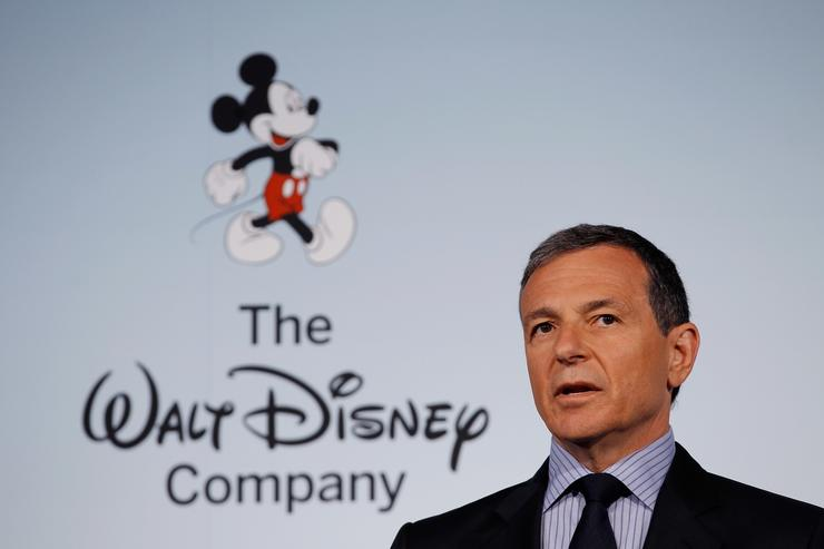 The Walt Disney Company Chairman and CEO Robert Iger delivers remarks during an event introducing Disney's new 'Magic of Healthy Living' program at the Newseum June 5, 2012 in Washington, DC. As part of the new healthy eating initiative, all products advertised on Disney's child-focused television channels, radio stations and Web sites must adhear to a new set of strict nutritional standards.