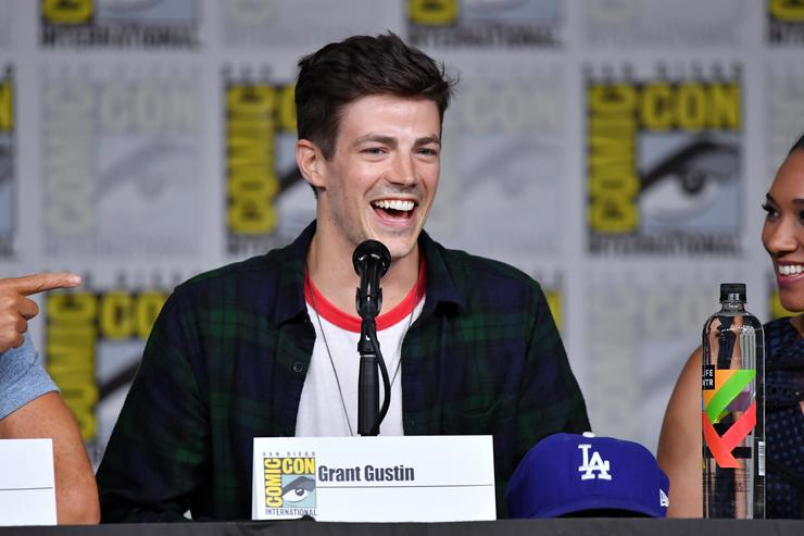 Grant Gustin Takes On Body Shamers After Flash Costume Leak