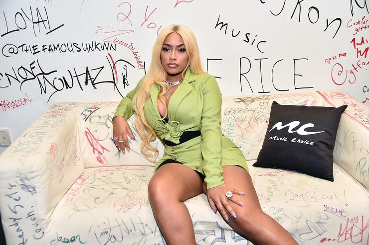 Stefflon Don Visits Music Choice at Music Choice on February 23, 2018 in New York City.