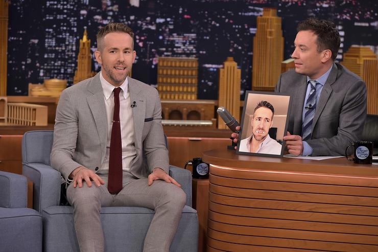 Ryan Reynolds Visits 'The Tonight Show Starring Jimmy Fallon' at NBC Studios