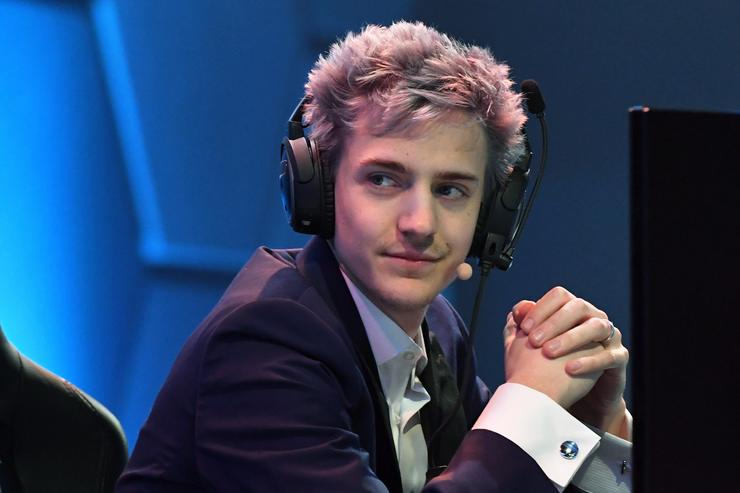Twitch streamer and professional gamer Tyler 'Ninja' Blevins streams during Ninja Vegas '18 at Esports Arena Las Vegas at Luxor Hotel and Casino on April 21, 2018 in Las Vegas, Nevada.