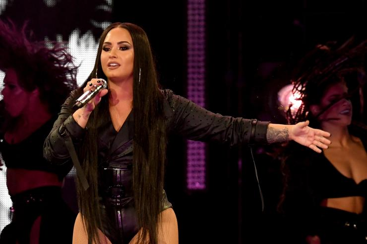 Singer Demi Lovato performs at The Forum on March 2, 2018 in Inglewood, California.