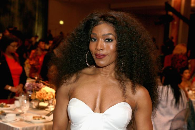 Angela Bassett onstage during the 2018 Essence Black Women In Hollywood Oscars Luncheon at Regent Beverly Wilshire Hotel on March 1, 2018 in Beverly Hills, California.