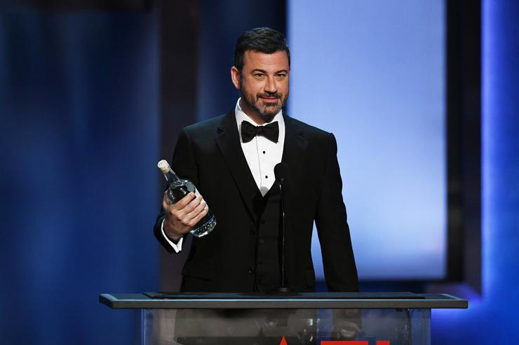 Jimmy Kimmel speaks onstage during the American Film Institute's 46th Life Achievement Award Gala Tribute to George Clooney at Dolby Theatre on June 7, 2018 in Hollywood, California.