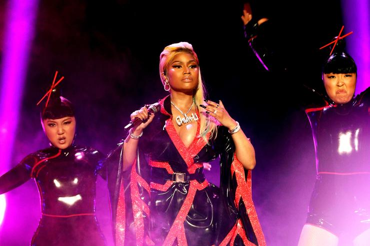 Nicki Minaj performs onstage at the 2018 BET Awards at Microsoft Theater on June 24, 2018 in Los Angeles, California.