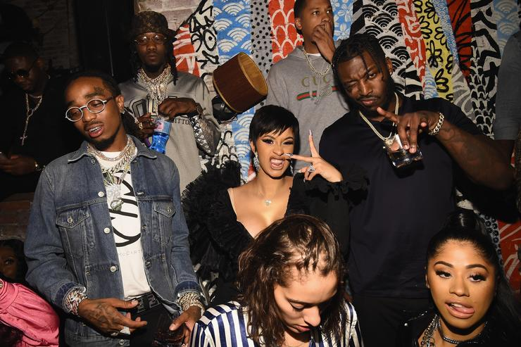 Offset, Quavo and Cardi B attend as Atlantic Records celebrates the 2018 VMA's on August 20, 2018 at TAO Downtown in New York City.