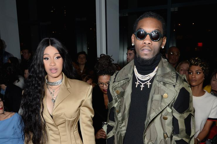 Cardi B Got Offset S Name Tattooed In An Interesting Location: Offset & Cardi B Gift Quality Control CEO Pee Custom