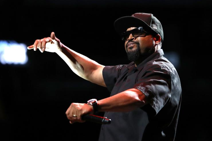 Ice Cube performs during the BIG3 Championship at the Barclays Center on August 24, 2018 in Brooklyn, New York.