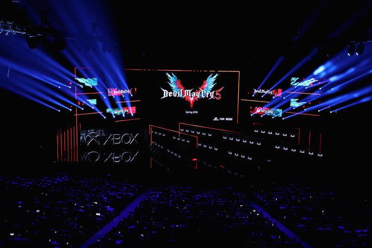 'Devil May Cry 5' by Capcom is revealed during the Microsoft xBox E3 briefing at the Microsoft Theater on June 10, 2018 in Los Angeles, California. The E3 Game Conference begins on Tuesday June 12.