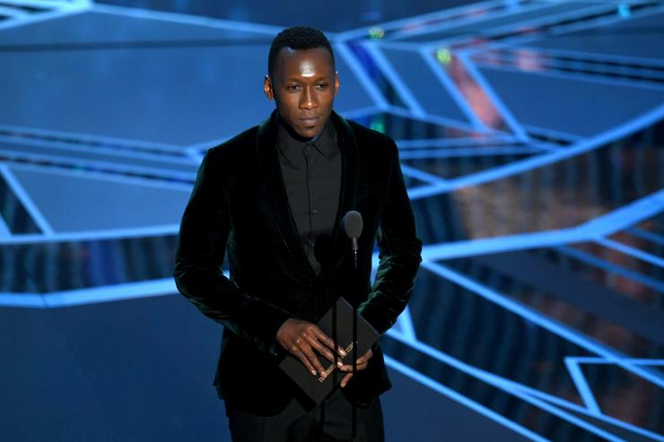 Actor Mahershala Ali speaks onstage during the 90th Annual Academy Awards at the Dolby Theatre at Hollywood & Highland Center