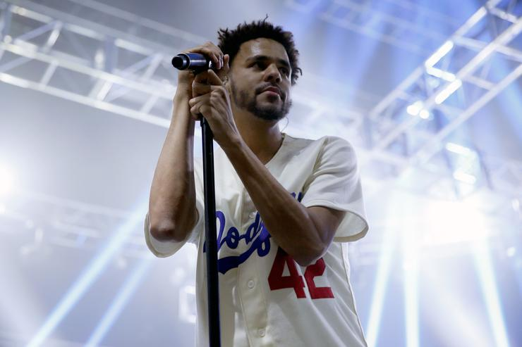 J. Cole performs during ESPN the Party at WestWorld of Scottsdale on January 30, 2015 in Scottsdale, Arizona
