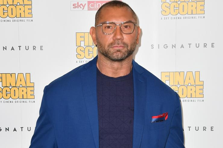 Dave Bautista attends the World Premiere of 'Final Score' at the Ham Yard Hotel on August 30, 2018 in London, England.