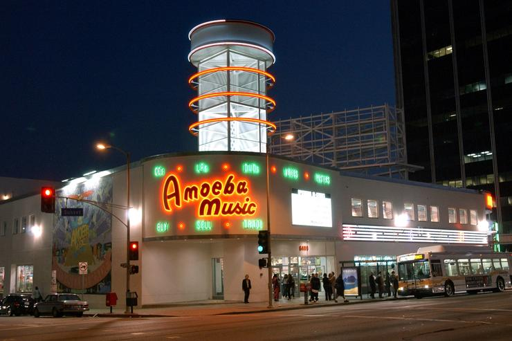 An exterior view of Amoeba Music May 16, 2002 in Los Angeles, CA