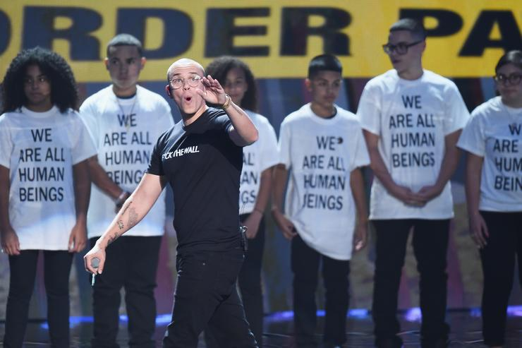 Logic performs onstage during the 2018 MTV Video Music Awards at Radio City Music Hall on August 20, 2018 in New York City