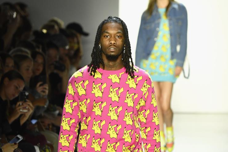 Offset of Migos walks the runway for Jeremy Scott during New York Fashion Week: The Shows at Gallery I at Spring Studios on September 6, 2018 in New York City