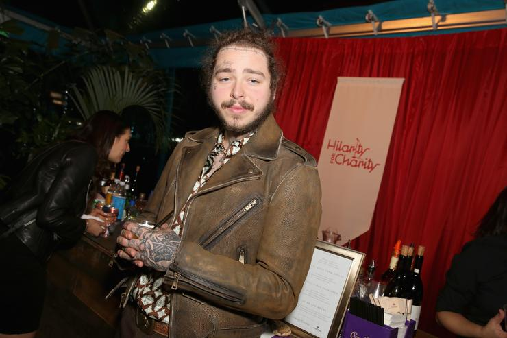 Post Malone attends Seth Rogen's Hilarity For Charity at Hollywood Palladium on March 24, 2018 in Los Angeles, California