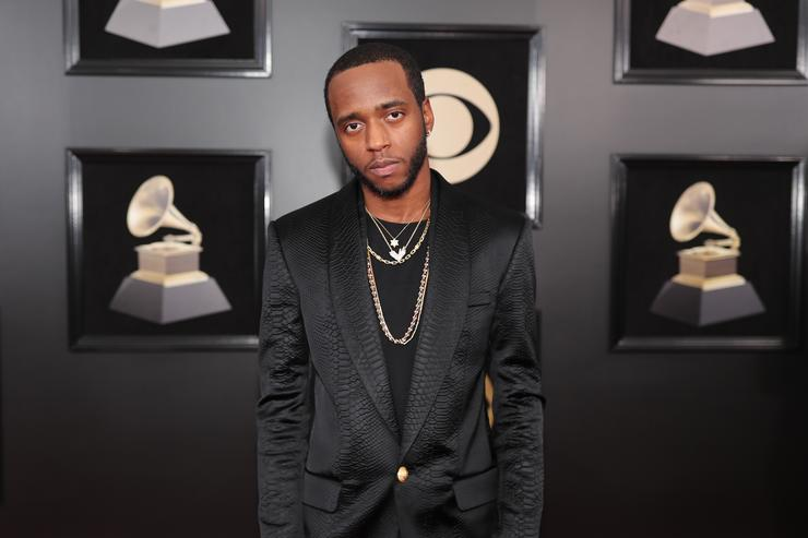 Recording artist 6LACK attends the 60th Annual GRAMMY Awards at Madison Square Garden on January 28, 2018 in New York City.