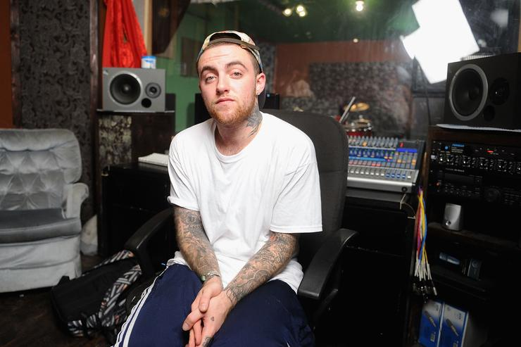 MAC Miller performs during Behind The Scenes With MAC Miller Filming Music Choice's 'Take Back Your Music' Campaign at Music Choice on July 17, 2013 in New York City.