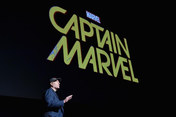 President of Marvel Studios Kevin Feige onstage during Marvel Studios fan event at The El Capitan Theatre on October 28, 2014 in Los Angeles, California.