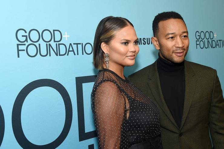 Chrissy Teigen (L) and John Legend attend the 2018 GOOD+ Foundation's Evening of Comedy + Music Benefit, presented by Samsung Electronics America at Carnegie Hall on September 12, 2018 in New York City.