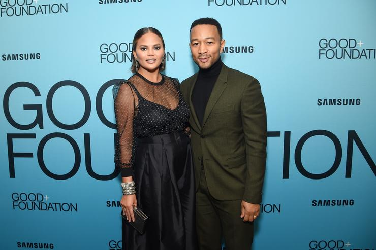 Chrissy Teigen (L) and John Legend attend the 2018 GOOD+ Foundation's Evening of Comedy + Music Benefit, presented by Samsung Electronics America at Carnegie Hall on September 12, 2018 in New York City