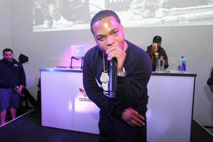 Don Q performs at the Launch Of Pusha T's Latest Collaboration With adidas Originals, KING PUSH X ADIDAS ORIGINALS EQT 'BODEGA BABIES' on October 26, 2017 in New York City