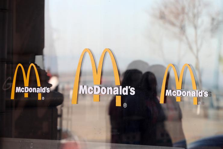 McDonald's employees in Chicago take part in a nationwide strike