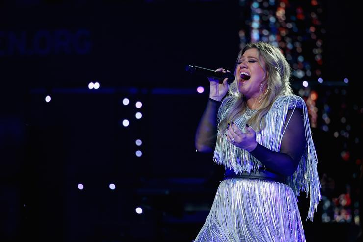 Singer-songwriter Kelly Clarkson performs during the opening night ceremony at Arthur Ashe Stadium during Day One of the 2018 US Open at the USTA Billie Jean King National Tennis Center on August 27, 2018 in the Flushing neighborhood of the Queens borough of New York City.