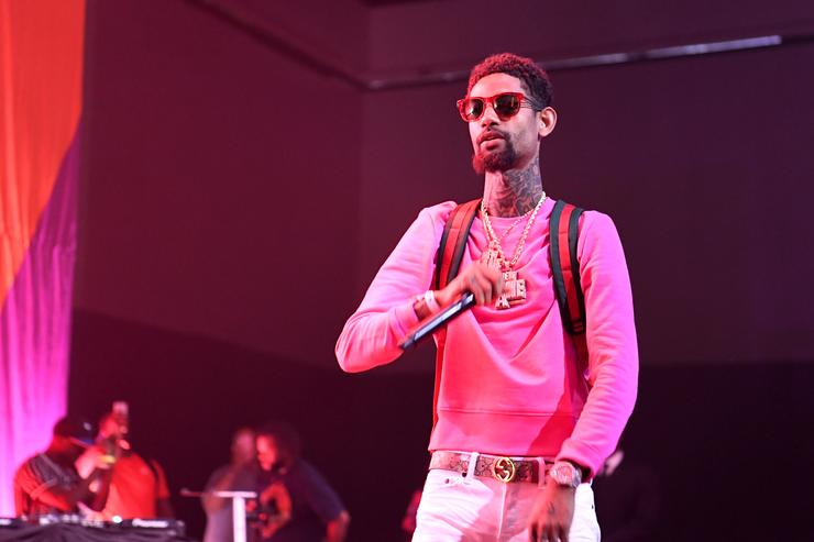 PnB Rock performs onstage at the Main Stage Performances during the 2017 BET Experience at Los Angeles Convention Center on June 24, 2017 in Los Angeles, California.