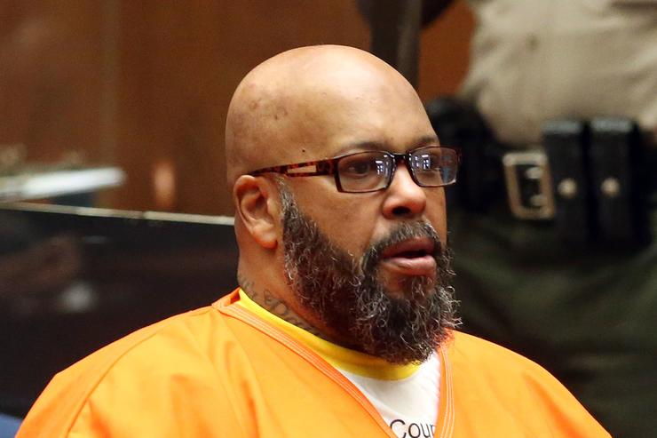 Marion 'Suge' Knight appears in Los Angeles court for a pretrial hearing at the Clara Shortridge Foltz Criminal Justice Center on January 21, 2016 in Los Angeles, California. Knight is charged with robbery and criminal threats after allegedly stealing a photographer's camera during an incident September 5, 2014 in Beverly Hills.