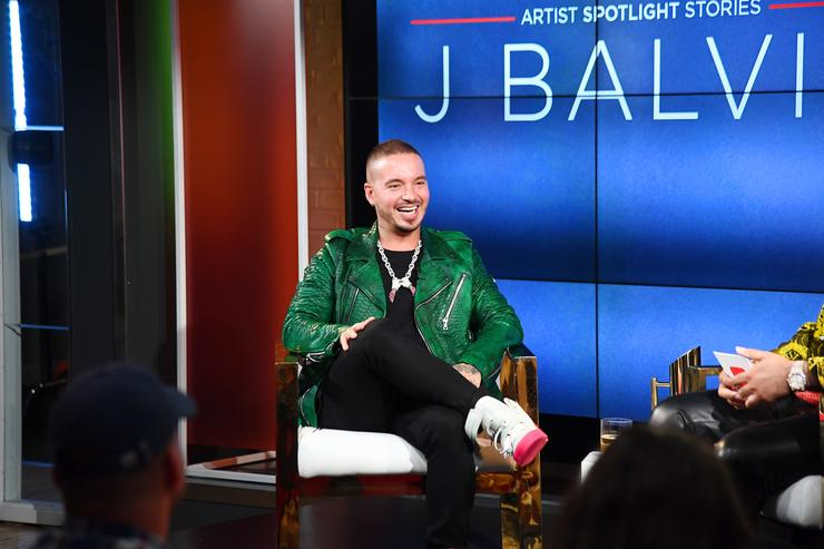 J Balvin speaks onstage during the YouTube Music premiere of J Balvin artist spotlight story 'Redefining Mainstream' at YouTube Space on August 1, 2018 in New York City.