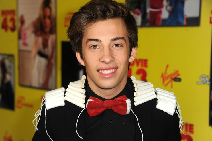 Actor Jimmy Bennett attends the premiere of Relativity Media's 'Movie 43' at TCL Chinese Theatre on January 23, 2013 in Hollywood, California.