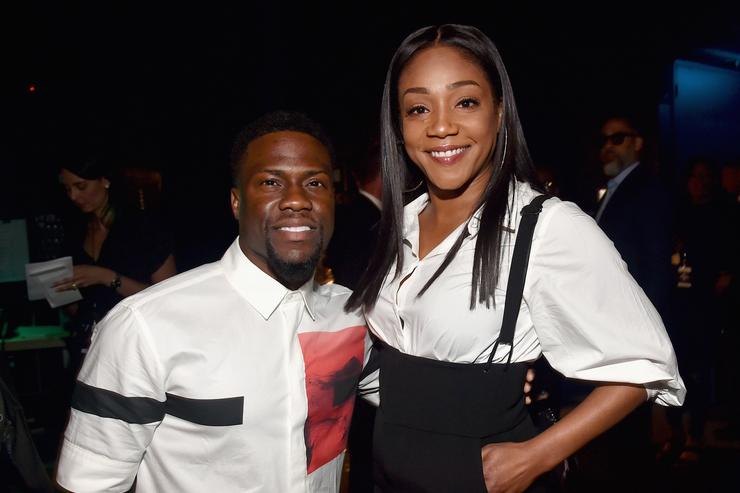 Actors Kevin Hart (L) and Tiffany Haddish attend CinemaCon 2018 Universal Pictures Invites You to a Special Presentation Featuring Footage from its Upcoming Slate at The Colosseum at Caesars Palace during CinemaCon, the official convention of the National Association of Theatre Owners, on April 25, 2018 in Las Vegas, Nevada.