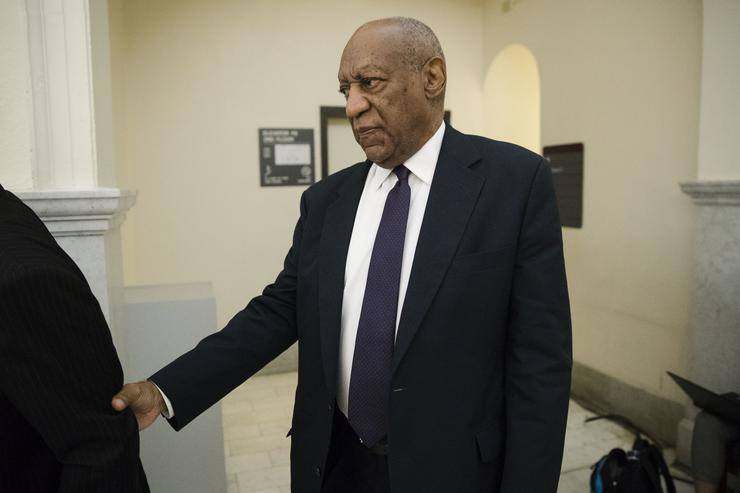 Actor Bill Cosby arrives for his trial on sexual assault charges at the Montgomery County Courthouse on June 6, 2017 in Norristown, Pennsylvania. A former Temple University employee alleges that the entertainer drugged and molested her in 2004 at his home in suburban Philadelphia. More than 40 women have accused the 79-year-old entertainer of sexual assault