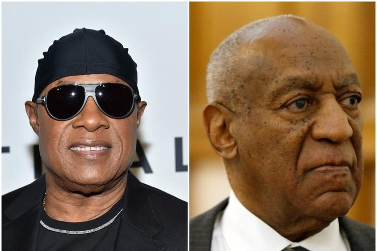 Stevie Wonder and Bill Cosby