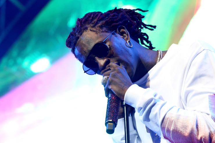 Young Thug performs onstage at night three of the STAPLES Center Concert, sponsored by Sprite, during the 2017 BET Experience at Staples Center on June 24, 2017 in Los Angeles, California