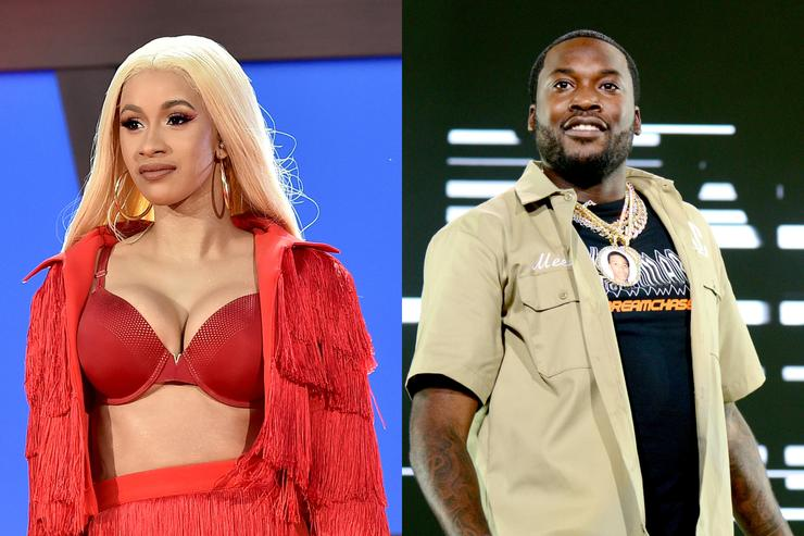 Cardi B performs onstage during the 2018 Global Citizen Festival: Be The Generation in Central Park on September 29, 2018 in New York City.; Meek Mill performs onstage during the 2018 Made In America Festival - Day 1 at Benjamin Franklin Parkway on September 1, 2018 in Philadelphia, Pennsylvania.