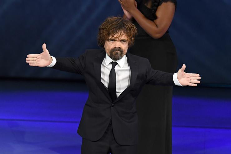 Peter Dinklage accepts the Outstanding Supporting Actor in a Drama Series award for 'Game of Thrones' onstage during the 70th Emmy Awards at Microsoft Theater on September 17, 2018 in Los Angeles, California.