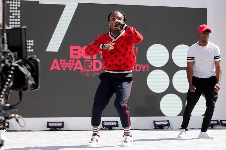 Jacquees perfroms onstage at Live! Red! Ready! Pre-Show at the 2017 BET Awards at Microsoft Square on June 25, 2017 in Los Angeles, California