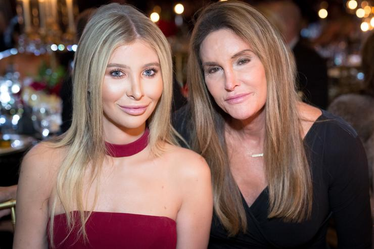 Sophia Hutchins and Caitlyn Jenner attend the Face Forward's 10th Annual 'La Dolce Vita' Themed Gala at the Beverly Wilshire Four Seasons Hotel on September 22, 2018 in Beverly Hills, California