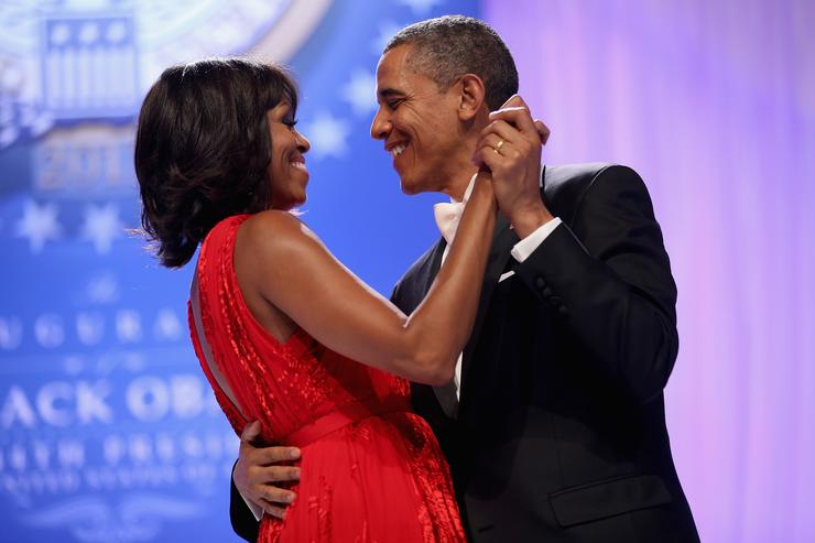 Barrack and Michelle Obama