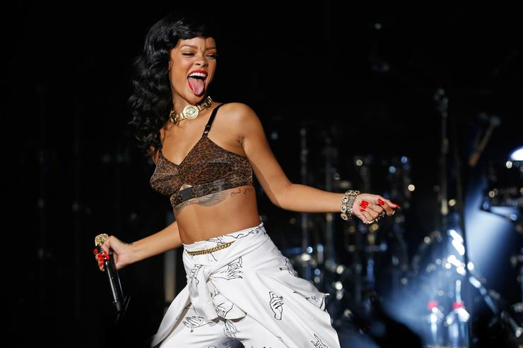 Rihanna performs live on stage as part of her 777 tour at The Forum on November 19, 2012 in London, England