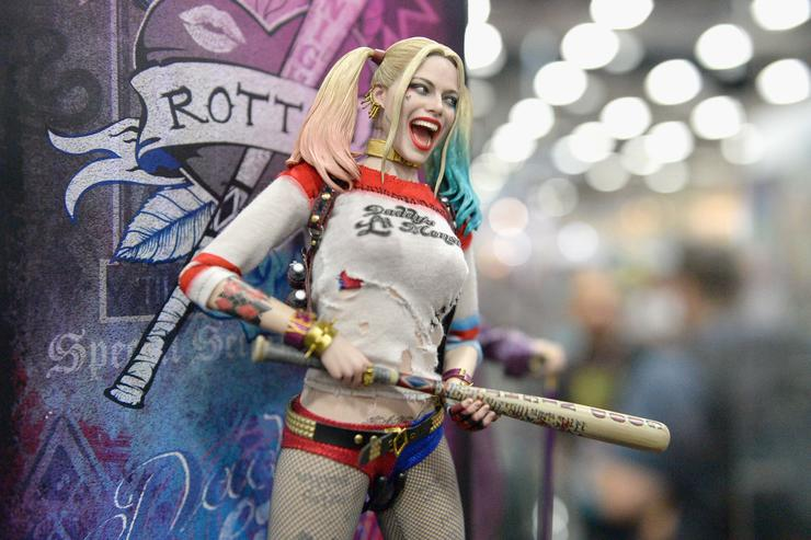 Harley Quinn from 'Suicide Squad' figurine displayed at Comic-Con International 2016 preview night on July 20, 2016 in San Diego, California