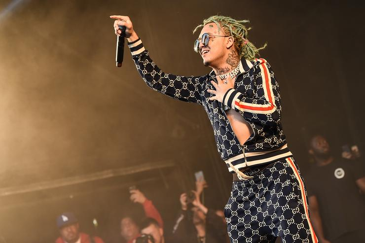 Lil Pump headlines the Pepsi Max stage on Day 3 of Wireless Festival 2018 at Finsbury Park on July 8, 2018 in London, England