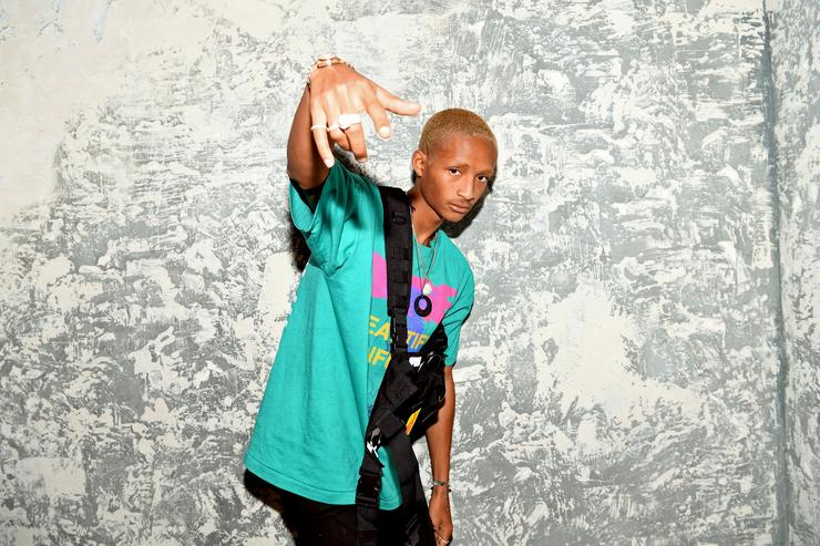 Jaden Smith attends the launch event of the activewear label SECNDNTURE by Jordyn Woods at a private residence on August 29, 2018 in West Hollywood, California. SECNDNTURE by Jordyn Woods will be available August 30th on secndnture.com.