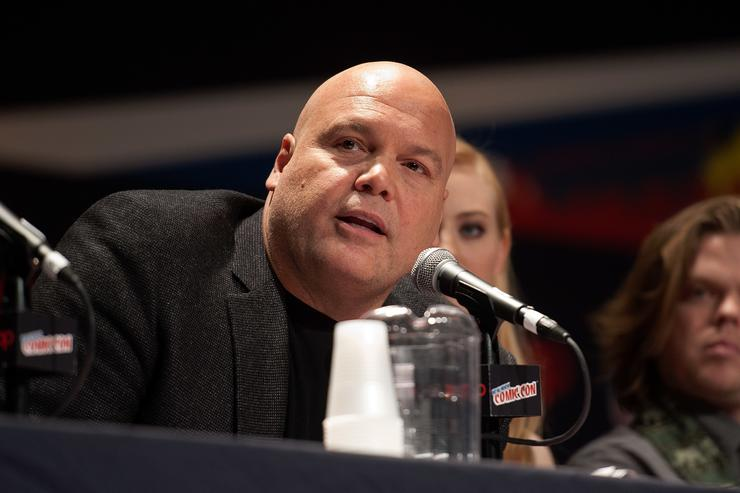 Vincent D'Onofrio attends the Netflix Original Series 'Marvel's Daredevil' New York Comic-Con Panel & Cast Signing at the Javits Center on October 11, 2014 in New York City.